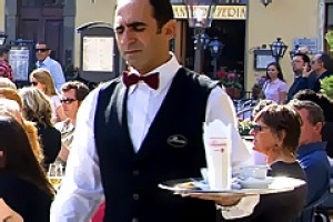 Italy, Florence, classified as World Heritage by UNESCO, Piazza della Signoria, Rivoire cafe.