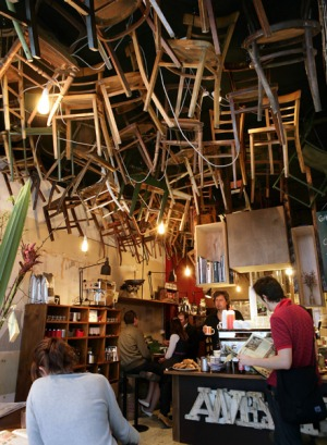 High there ... the quirky Brother Baba Budan cafe.