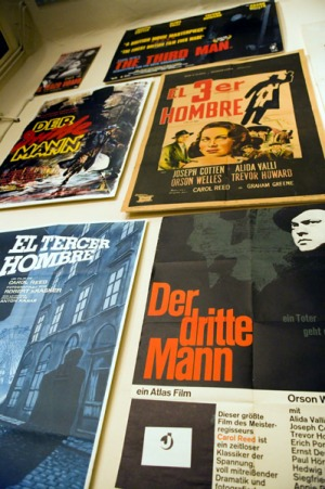 Screen gem ... a display of posters in the Third Man Museum.