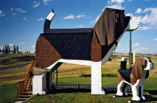 "10. Dog Bark Park Inn, Idaho, USA. Inside ""the world's biggest beagle"" (named Sweet Willy) are two connecting rooms, one ..."