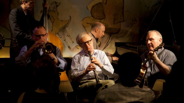 Jamming ... Woody Allen and the Eddy Davis Jazz Band play at the Carlyle Hotel.