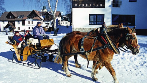 Horse-drawn or on skis, great snow conditions abound in North Bohemia.