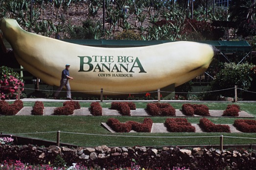 The Big Banana at Coffs Harbour, New South Wales.
