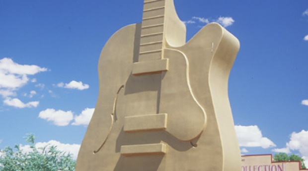 The Big Guitar in Tamworth, New South Wales.