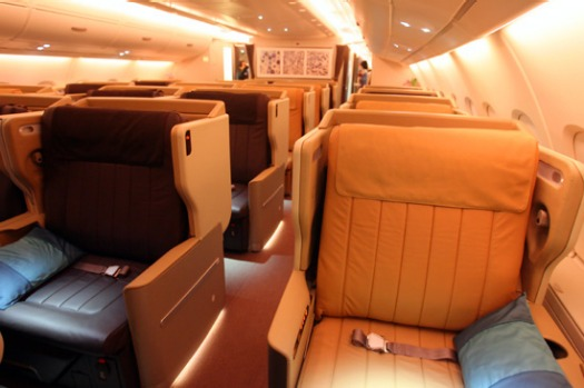 Best in the business? Business class on the Singapore Airlines A380.