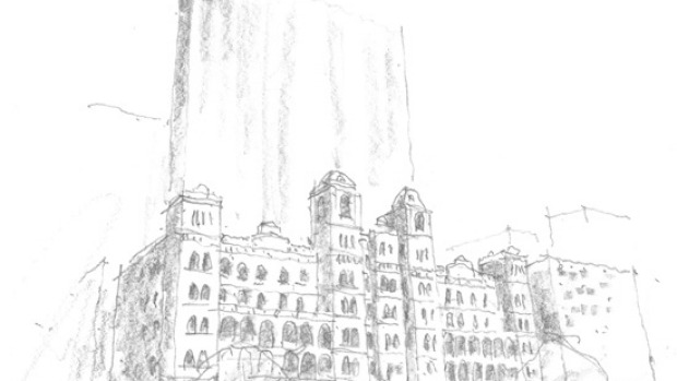 Artist's impression of the Windsor Hotel and its proposed tower.
