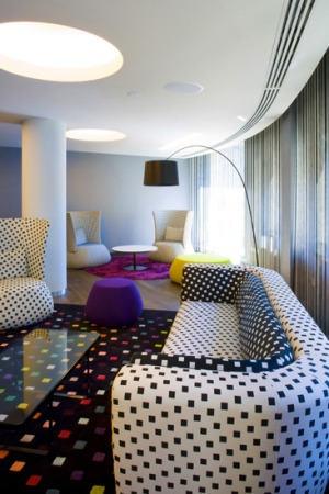 Palette-able ... every corner of Hotel Missoni resembles a glossy-magazine spread.