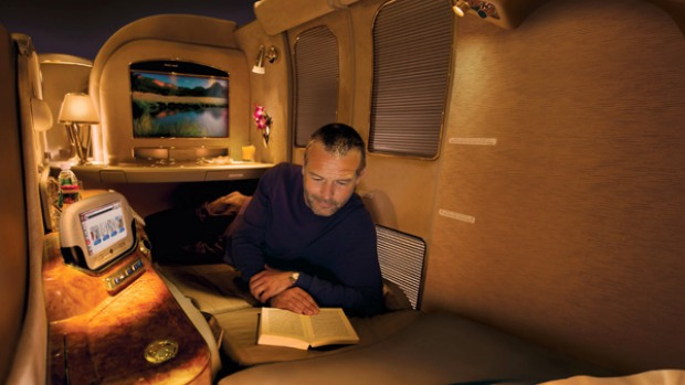 An Emirates first-class suite.