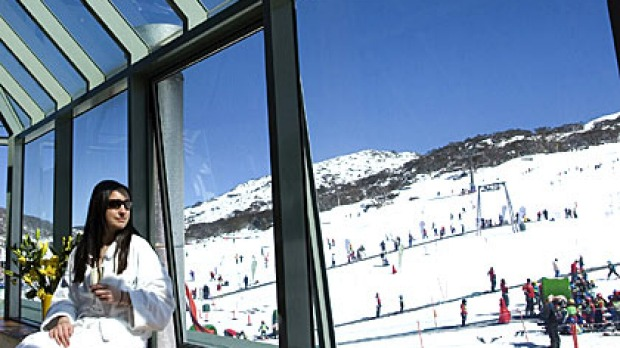 Blue-sky views at Perisher Valley Hotel.