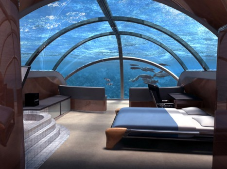The Poseidon will be set in a coral lagoon teeming with wildlife.