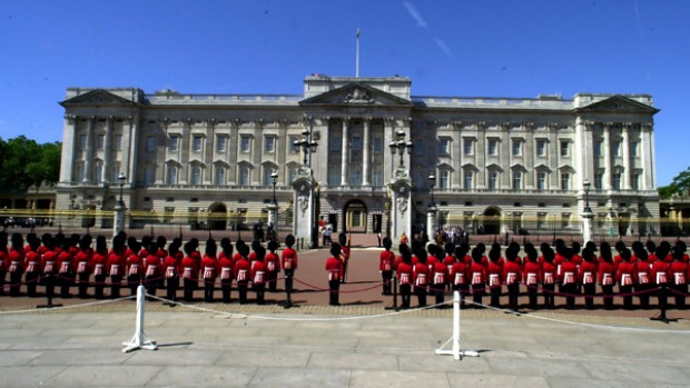 His Highness at home ... Buckingham Palace.