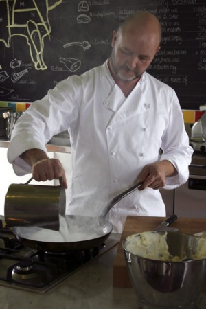 The cook, the teacher, the cafe owner ... Bella Vedere's Gary Cooper at his cooking school.