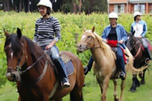 Saddle up ... winery ride.
