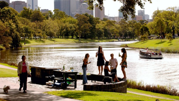 By the riverside ... barbecues and trails on the Yarra.