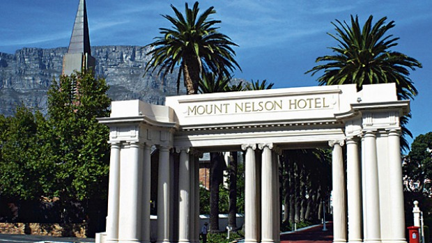Mount Nelson Hotel, South Africa. Set in splendid gardens at the foot of the imposing Table Mountain, this colonial-era establishment serves afternoon tea on the terrace and by the garden's fountain but the main event is in the lounge.