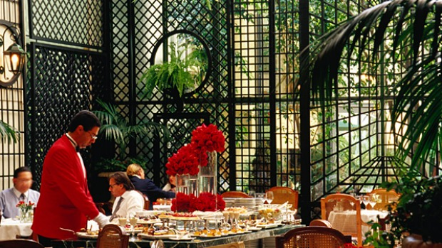 Alvear Palace Hotel, Buenos Aires. Afternoon tea is served in the grand L'Orangerie restaurant and spills into the Jardin d'Hiver, an elegant plant- and light-filled conservatory.