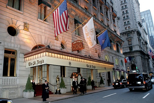 St Regis Hotel, New York. Sit back and enjoy the frescoes high on the ceiling and a harpist's strummings in the Astor ...