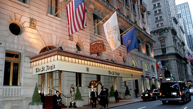 St Regis Hotel, New York. Sit back and enjoy the frescoes high on the ceiling and a harpist's strummings in the Astor Court while savouring the fare, which has been given a twist.