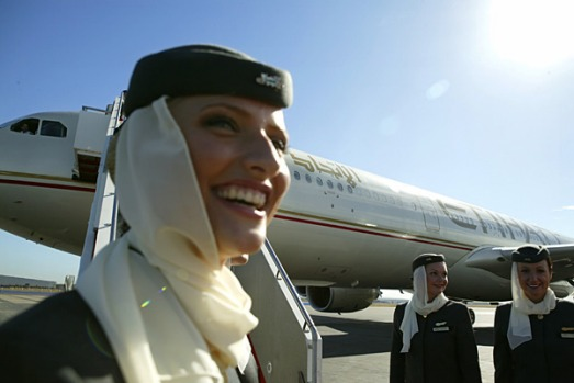 Immaculately dressed, Etihad's staff are friendly, attentive and efficient.