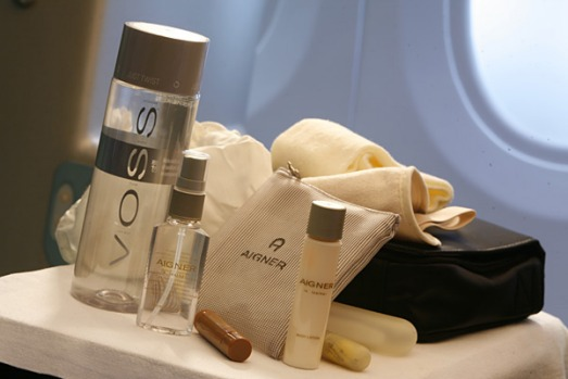 Etihad business class amenities kit.