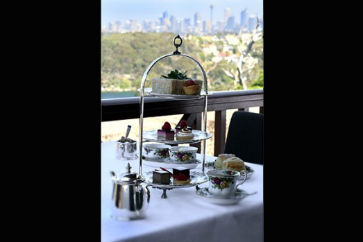 The Tea Room, Gunners' Barracks, Sydney. What catches your breath here is the magnificent view, best enjoyed from the ...