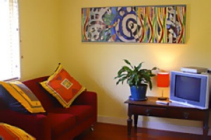 Inspired ... original art in King Studio B&B.