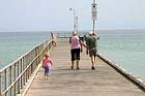 Walking on the Dromana jetty