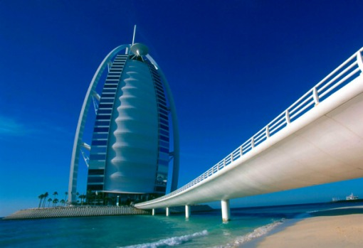 The world's tallest all-suite hotel - Burj Al Arab, Dubai: The building, standing at 321 metres heigh, will only have ...