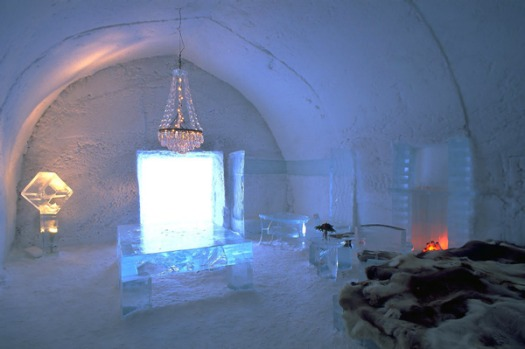 World's coldest hotel - Icehotel, Jukkaskarvi, Sweden: Rooms are built entirely out of ice and snow, decorated with ...