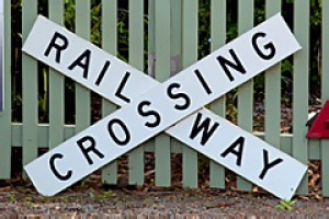 History express ... old train signs line the fence of Carriageway at Crooks Park Estate.
