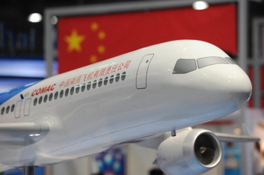 The single-aisle aircraft was designed by Commercial Aircraft Corporation of China, or COMAC, and is part of China's ...