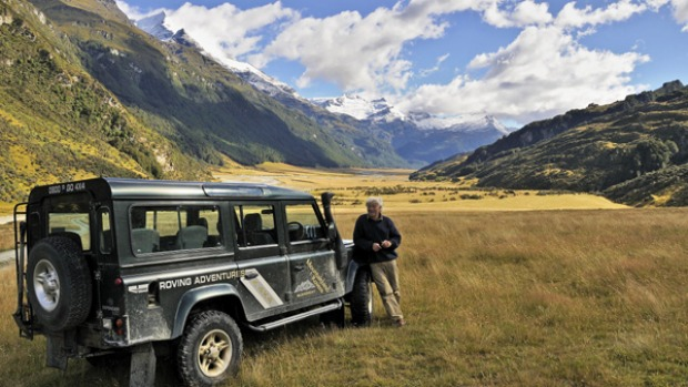Remote and refined ... guide Dick Watson in the Rees Valley.