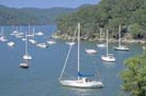 Views of the Hawkesbury River from McKell Park looking over Parsley Bay