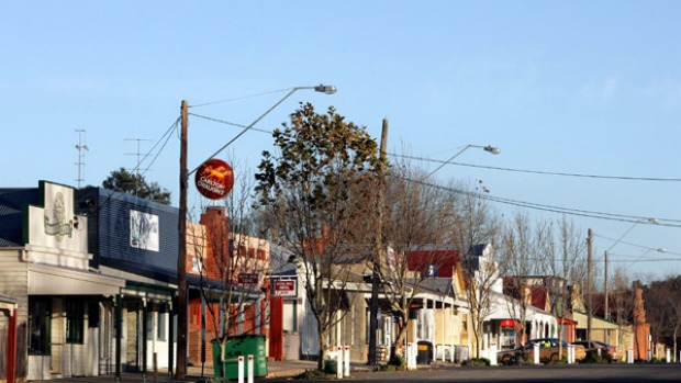 Main street ... sleepy Birregurra hopes to draw 15,000 visitors on October 9-11.