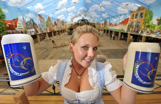 This year's Oktoberfest, the 176th, sees the price of a traditional litre mug up by 30 cents to between 8.10 and 8.60 ...