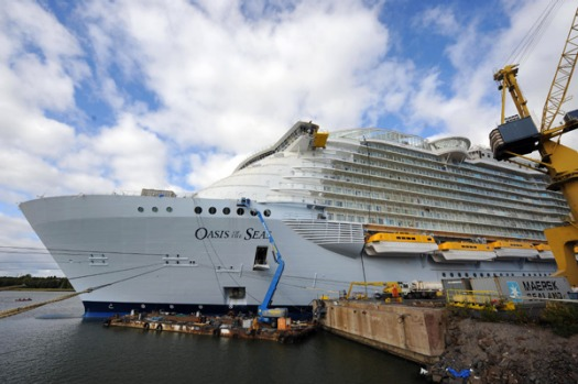 Royal Caribbean's Oasis of the Seas is the largest cruise ship ever built.