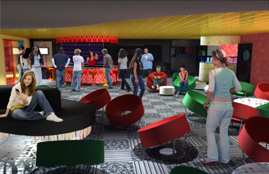 Artist's impression of the ship's 'Youth Zone'.