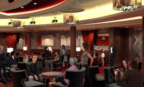 Artist's impression of the ship's jazz club.