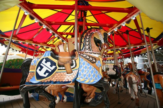 Size matters ... facilities on the Oasis of the Seas will include a carousel.