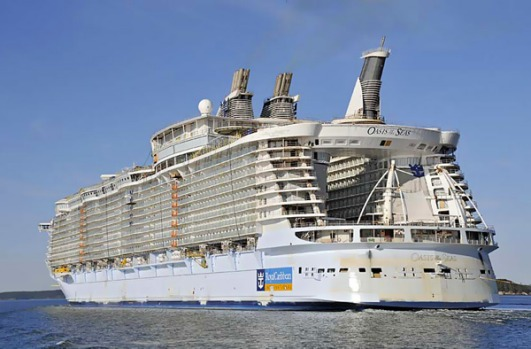 The Oasis of the Seas during sea trials earlier this year.