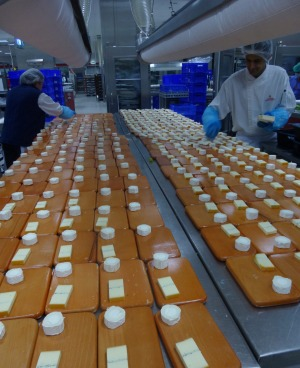 Behind the scenes preparation of food at the Emirates Flight Catering facility in Dubai.