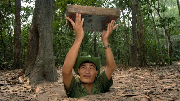 Confined in the narrow spaces, it is easy to imagine how terrifying it must have been to shelter in the Cu Chi tunnels ...