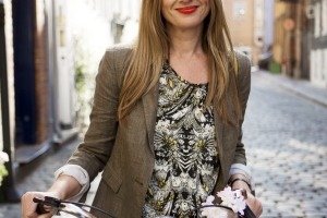 Julia Zemiro on a bike riding around Copenhagen.