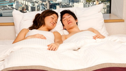 One Tokyo hotel is allowing male customers to sleep next to a girl for a fee.