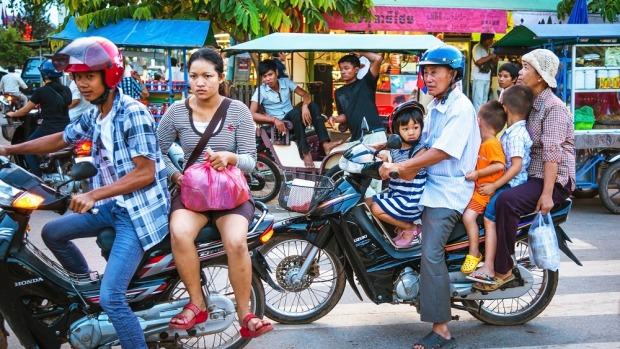 Travelling in southeast Asia, hiring a bike is obviously the thing to do.