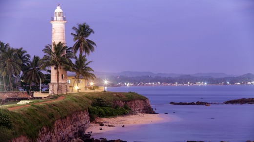 The Galle lighthouse.