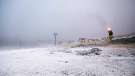 Perisher started making snow for the 2015 season last week.
