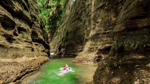 The Upper Navua River is at times barely passable as it slices its way through deep chasms of rock.