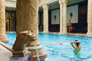Indoor pool and thermal baths at Gellert Baths, Budapest.