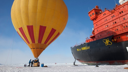 Hot air ballooning in the Arctic with Quark Expeditions.